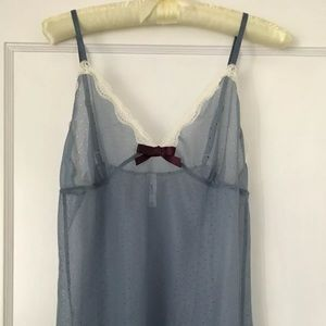 GapBody Gap Body Sheer Blue Lingerie Cami Top Lace